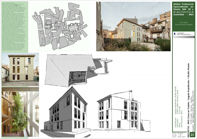 Proyecto MASTER BIM. Casa en Tudela