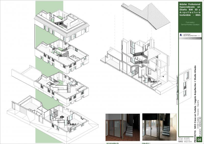 Proyecto BIM. Despiece Casa en Tudela