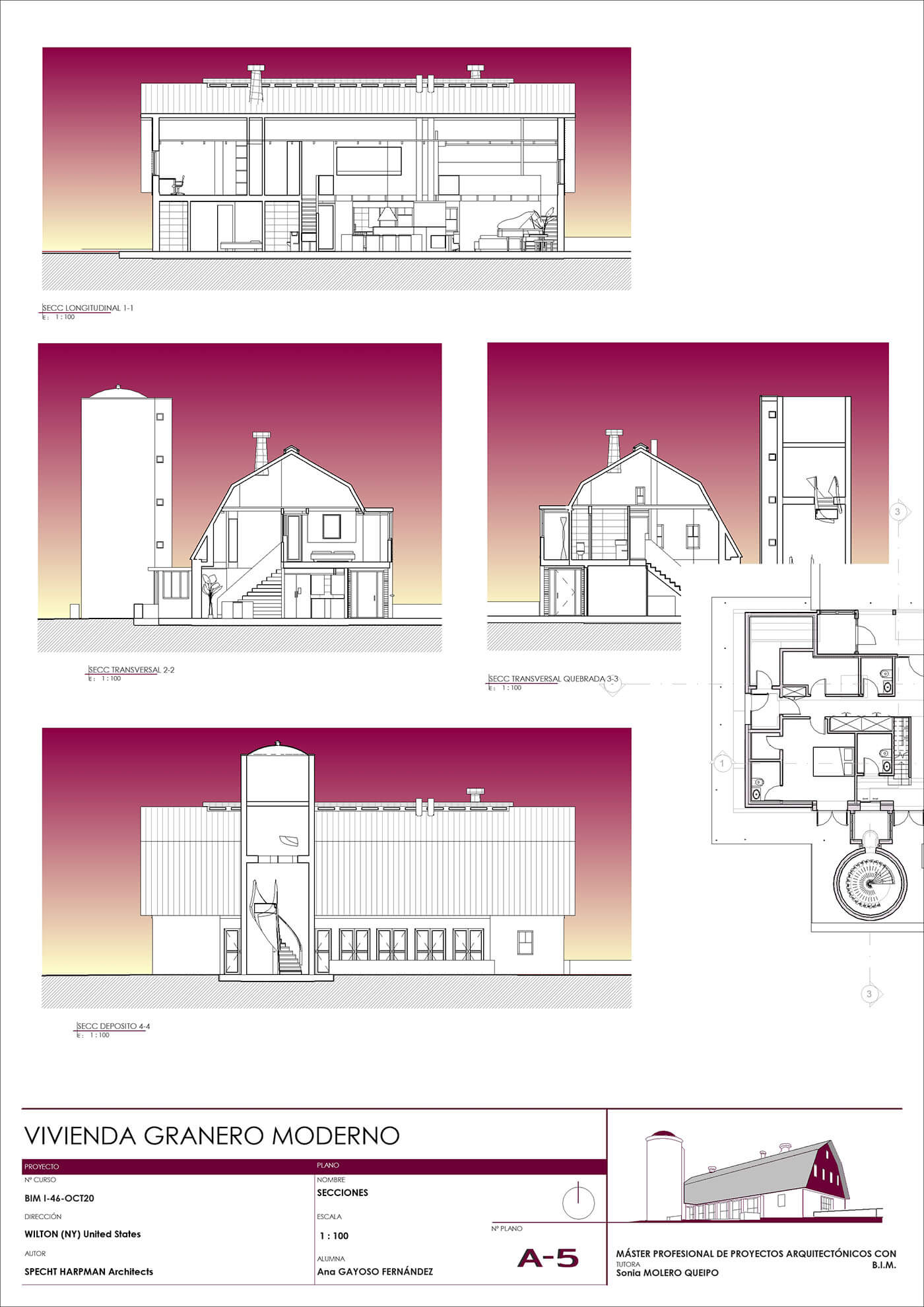 Composición de Secciones en Revit