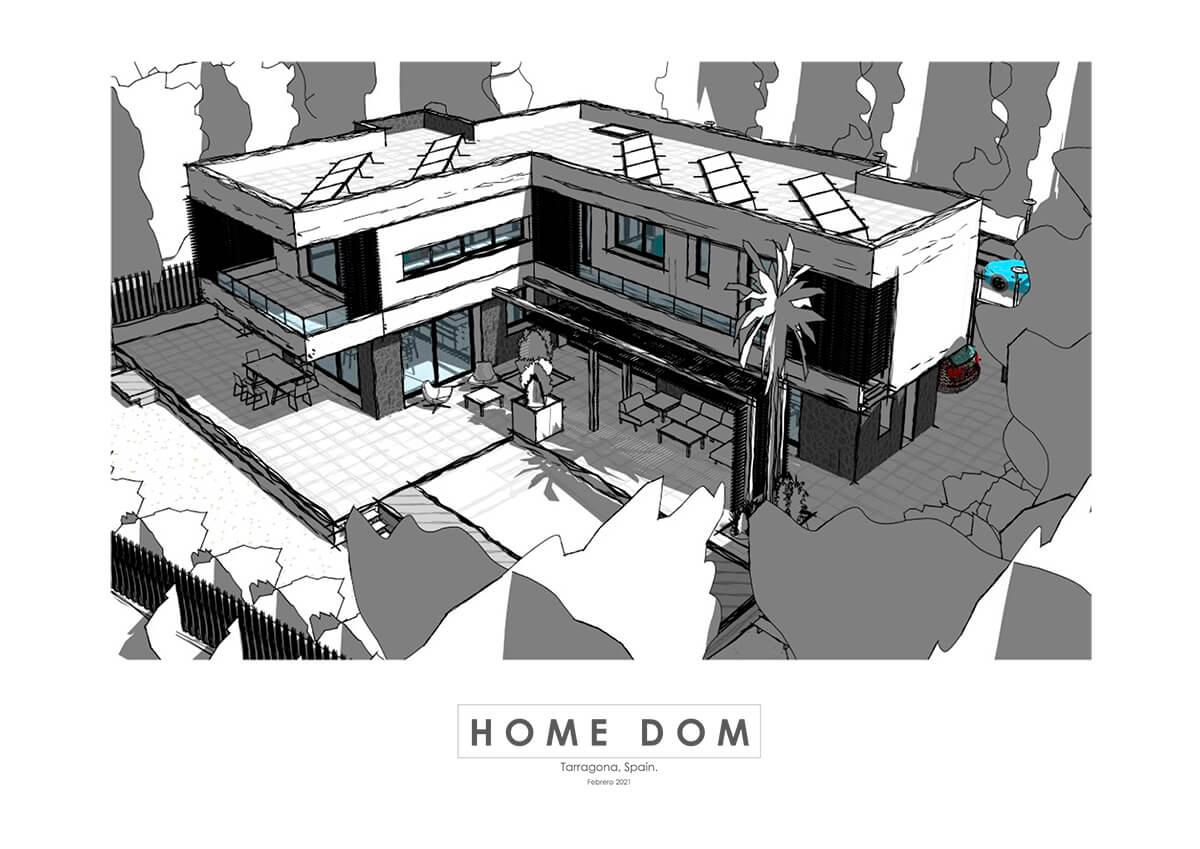 Estilo visual Líneas de boceto. 3D Revit